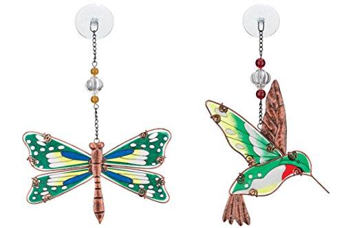 Regal Art Gift Suncatchers Dragonfly And Hummingbird Glass Sun Catcher for Home Garden Window and Wall Art