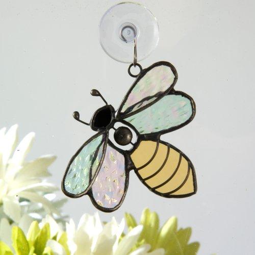 J Devlin Orn 175 Stained Glass Bee Ornament Window Sun Catcher