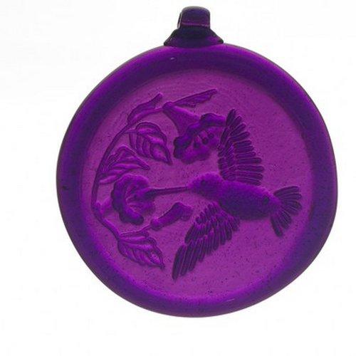 Kitras 3-inch Hummingbird Suncatcher Purple