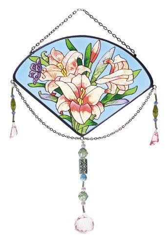 Joan Baker Designs Jsf003 Suncatcher 6 By 9-inch Pink Lilies