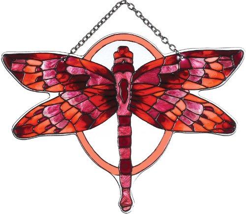Joan Baker Designs Ssd1022 Redterracotta Butterfly Art Glass Suncatcher