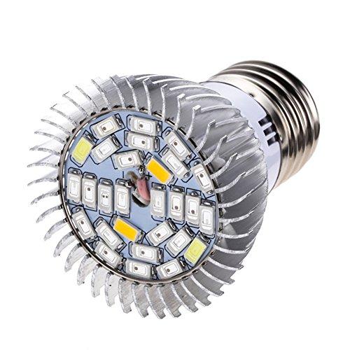 Fenta 28W Full Spectrum Grow LED Light Indoor Plants Flower Veg Lamp Bulb E27E14GU10