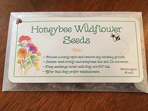 Honeybee Wildflower Seed Packets Favors