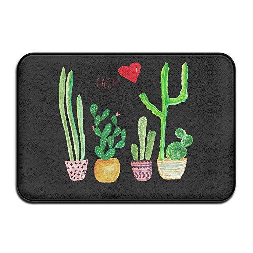 Cacti Cactus Love Artical IndoorOutdoor Doormat Kitchen Rugs 4060