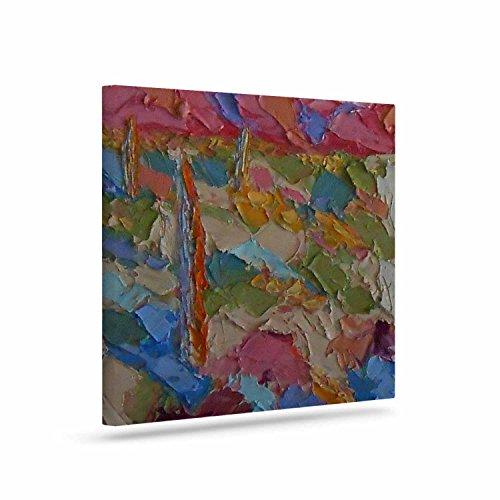 KESS InHouse Jeff Ferst Saguaros in Spring Blue Multicolor Canvas Art 8 by 10