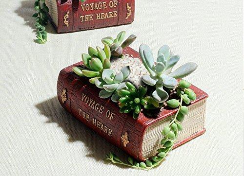 Sun-e Charming Planter Pot Book Design Succulent Planter Flower Pot  Plant Box Containersmall