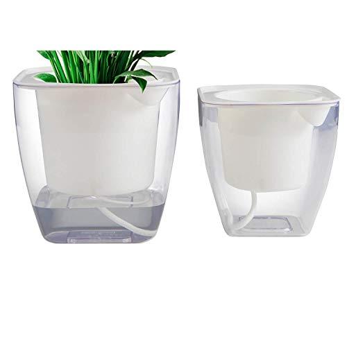 ALIN Flower pots Indoor or Outdoor Succulent Pots Self Watering Planter Self Watering Pot 5 43 M S 2PCS Pack