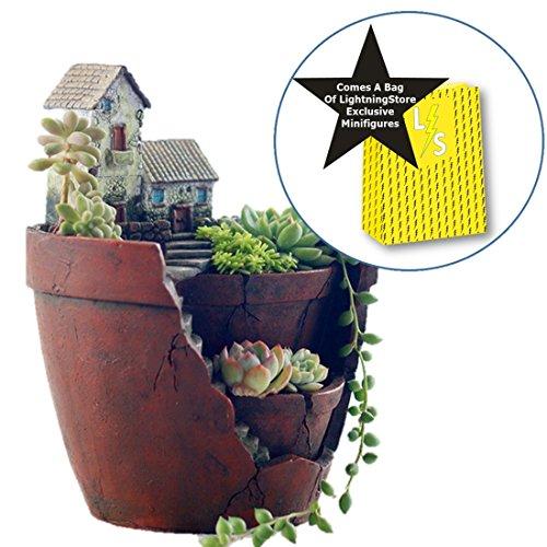 Lightningstore Succulent Plants Pot Microlandschaft Personalized Office House Balcony Landscape Pot Creative Decorative