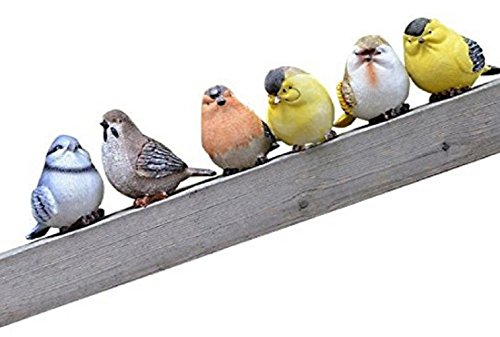 Garden Ornament Cute Small Bird six Small Birds