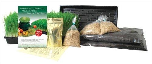Barley Grass Growing Kit- Grow Juice Barleygrass Includes Barley Seeds Orgainc Soil Mix Grow Trays Azomite Fertilizer Instructions