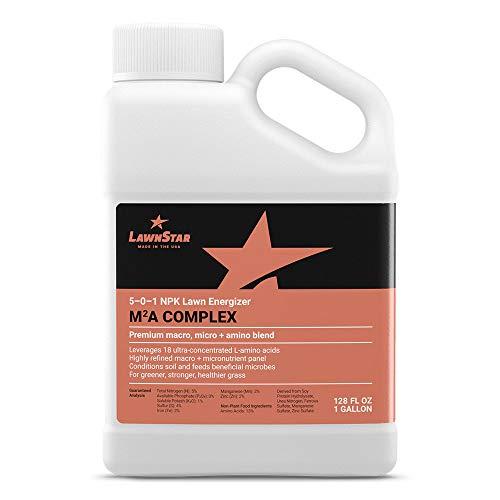 LawnStar Premium Macro Micro  Amino Acid Blend 1 GAL - 5-0-1 NPK - Our Most Advanced Lawn Fertilizer - Fast  Slow Release Nitrogen 13 Aminos  Micronutrients All Grass Types - American Made