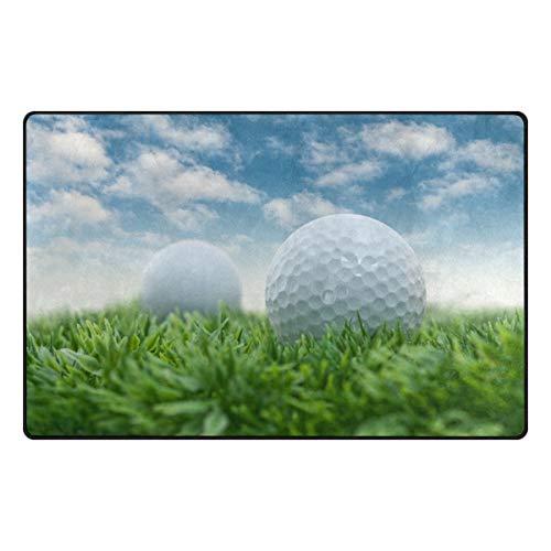 Anna Cowper Golf On Grass Area Rug Non-Slip Indoor Doormats Floor Mat for Dining Room Home Bedroom Hallway Carpet Decorative 60 x 39 inch