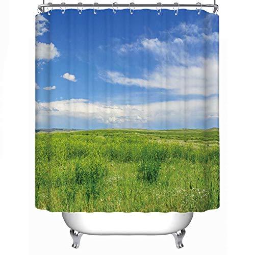 MOOCOM Short Grass Prairie Soft Shower Curtain17395779L x 71W