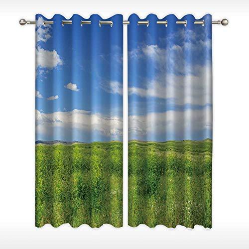MOOCOM Short Grass Prairie Window Curtain Rod White173957 for CaféW58in x H45in
