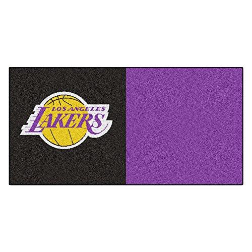 Fanmats Nba Los Angeles Lakers Nylon Face Team Carpet Tiles