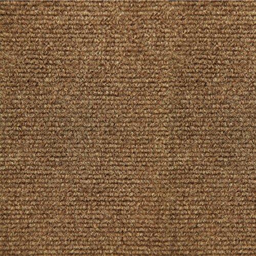 Ribbed Carpet Tiles Residential Flooring Self Adhering 18x18 16 Tile Pack 36 Sqft Color Bark Model  Outdoor Hardware Store