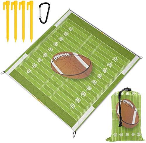 Grass Sport Football Field Waterproof Family Picnic Mat Beach Blanket for Picnic Camping Beaches Grass Travel3 Sizes 79 x 57 Inch
