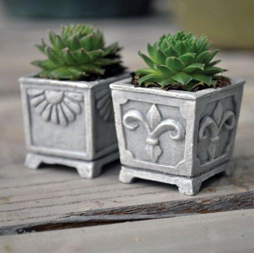 Miniature Fairy Garden Miniature Stone Urns Set Of 2