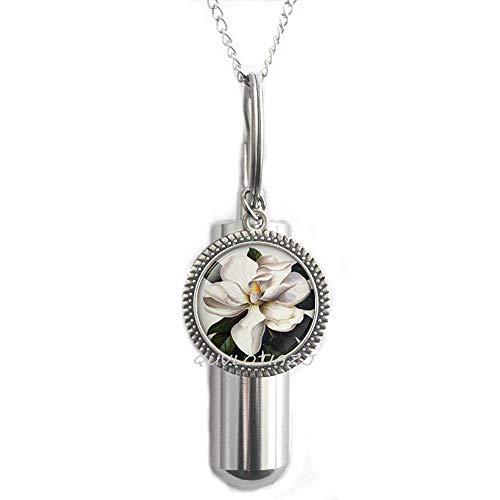 QUVLOTIAZJ Southern Magnolia UrnMagnolia FlowerMagnolia Jewelry Magnolia Cremation Urn Necklace Resin Urnot296