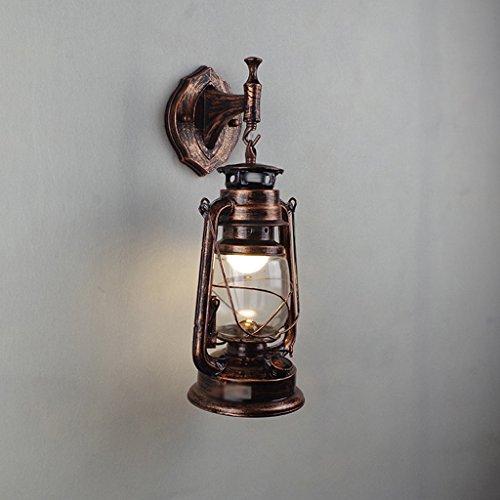 MILUCE Wall Lamp European Iron Antique Wall Lamp Retro Horse Lamp Restaurant Lighting Bracket Light