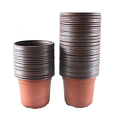 Truedays 4 Plastic Flower Seedlings Nursery Potpots  100 Pack