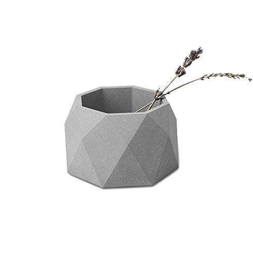 8haowenju Concrete Flower Pots Creative Cement Pots Home Office Fleshy Landscape Pots Simple Ornaments Color  Gray