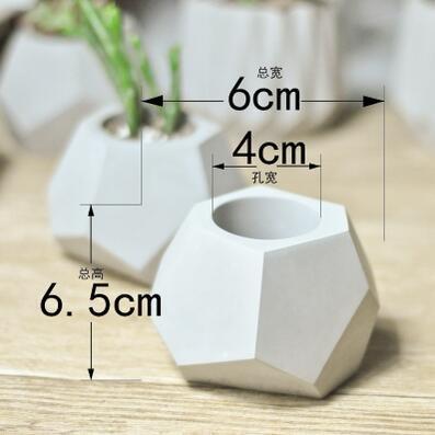 Generic silicone molds for concrete flower pot diy cement planters concrete plant pot molds concrete molds Diy Succulent Pot 65x60x40mm