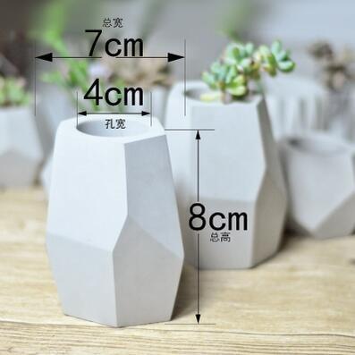 Generic silicone molds for concrete flower pot diy cement planters concrete plant pot molds concrete molds Diy Succulent Pot 80x70x40mm