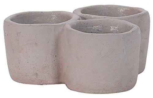 Cement Triple Mini Pot Planter - Succulents Cacti