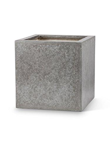 Grey Urban Design 12&quot Cement Large Heavy Square Flower Pot Planter