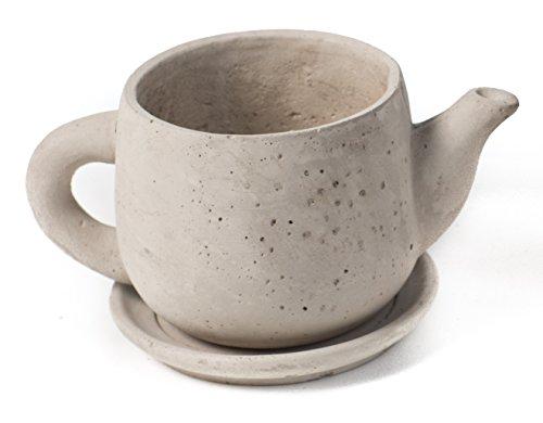 Oohlong Market Cement Tea Pot Planter