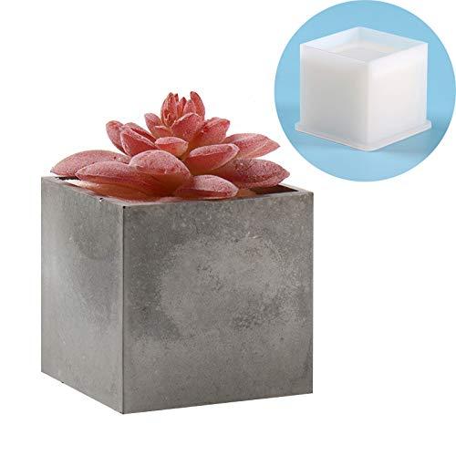 Concrete Planter Molds Square Shaped Cement Flower Pot Mould
