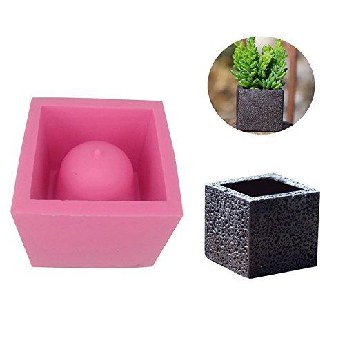 DIY Square Cement Flower Pot Silicone Mold Crafts Succulent Plants Concrete Planter Vase Molds for Home Decor