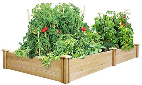 Happy Planter Wood Raised Garden Bed 4 X 8 X 105&quot