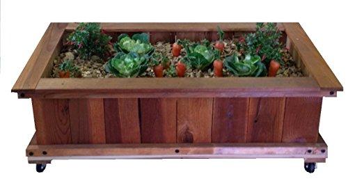 2X4 Garden Box Kit WWheels  Redwood