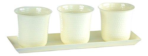 H Potter Set Of Three Mini Flower Garden Window Box Planter white