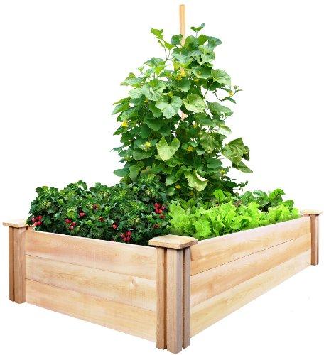 Greenes Fence Cedar Raised Garden Kit 2 Ft X 4 Ft X 105 In