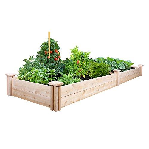 Greenes Fence Cedar Raised Garden Kit 2 Ft X 8 Ft X 7 In