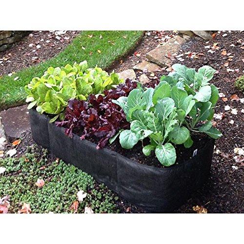 2 ft x 4 ft Black Instant Raised Garden Planter Bed
