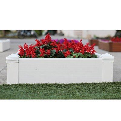 Composite Lumber Square Patio Raised Garden Planter Box Color Hyams White Size 8 H x 288 W x 288 W