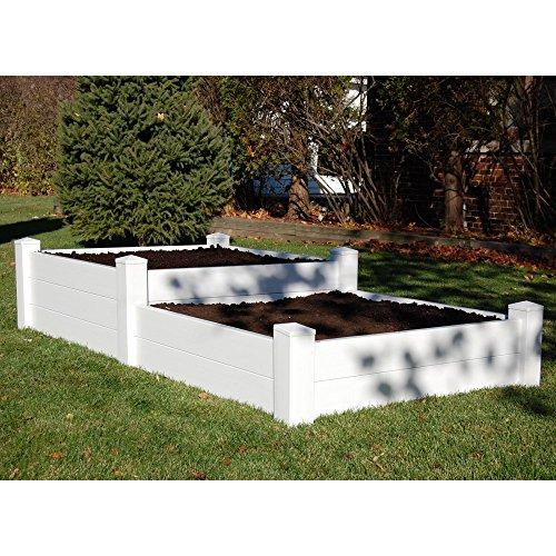 Dura-trel 4 X 8 Rectangle Split Level Raised Planter Bed