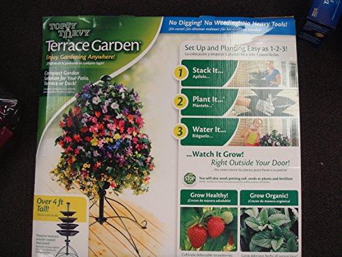 Topsy Turvy Terrace Garden 4-Tier Raised Bed Planter