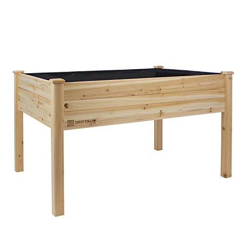 Driftsun Patio Raised Garden Bed Elevated Planter Box 48 X 34 X 32