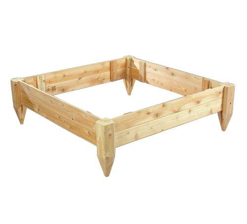 Cedarlooks 3114848 4 by 4-Feet Cedar Raised Bed Planter