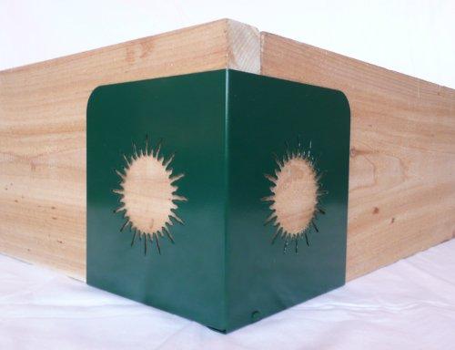 Gardeners Gadgets Quick Corners For Raised Garden Beds - Sunburst - Set Of 4