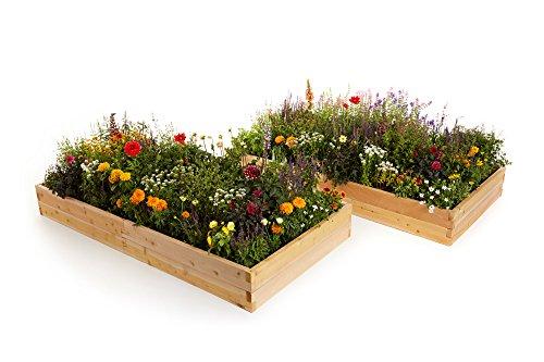 Naturalyards Raised Garden Bed 16-in-1 Kit rustic Cedar 4 Boards