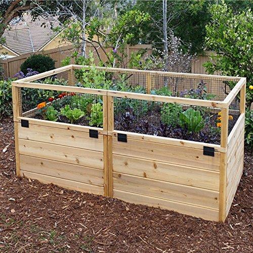Outdoor Living Today Raised Cedar Garden Bed - 6 x 3 ft