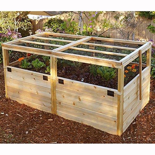 Outdoor Living Today Raised Cedar Garden Bed with TrellisLid - 6 x 3 ft