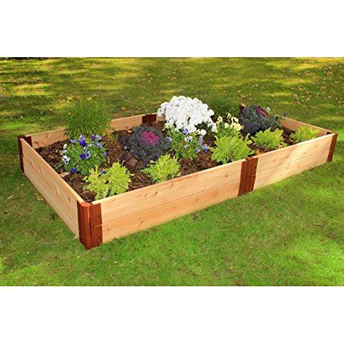 Frame It All One Inch Series Cedar Raised Garden Bed Kit 4 x 8 x 12