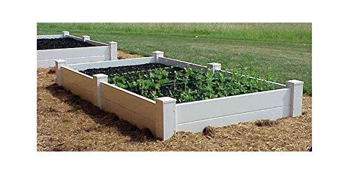 Board Planter Bed in White Finish 3 Board 93 L x 4